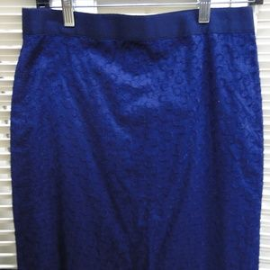 J CREW KNEE LENGTH SKIRT SIZE 4 SMALL S NAVY